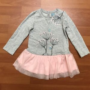 Gap Little Girl Sweater Pink and Gray Dress Size 2